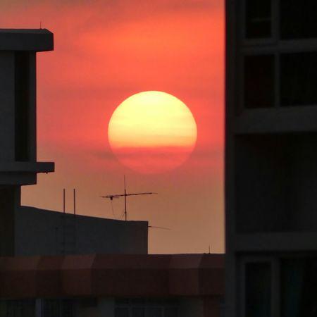 Sunset Unedited Sun Evening