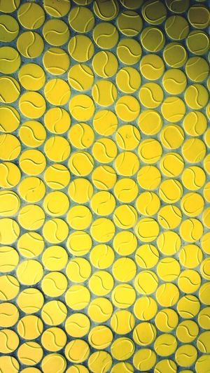 The Color Of Sport Yellow Full Frame Close-up Yellow Color Focus On Foreground Patterned Vibrant Color Extreme Close Up Tennis 🎾 Tennis Ball Tennis Club Backgrounds Conformity Yellow Full Frame Backgrounds Close-up Protection Repetition Yellow Color Conformity Focus On Foreground Extreme Close Up Patterned