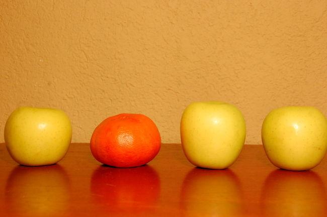 Manzanas Mandarina Frutas Apples Tangerine Fruits