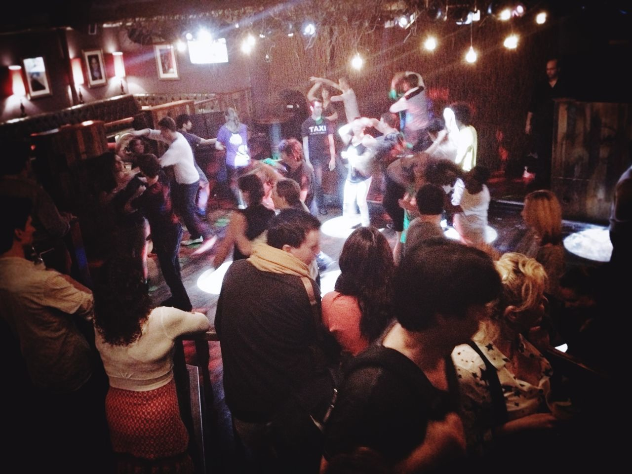 large group of people, nightlife, night, illuminated, crowd, real people, men, audience, enjoyment, fun, performance, women, music, nightclub, indoors, people, adult