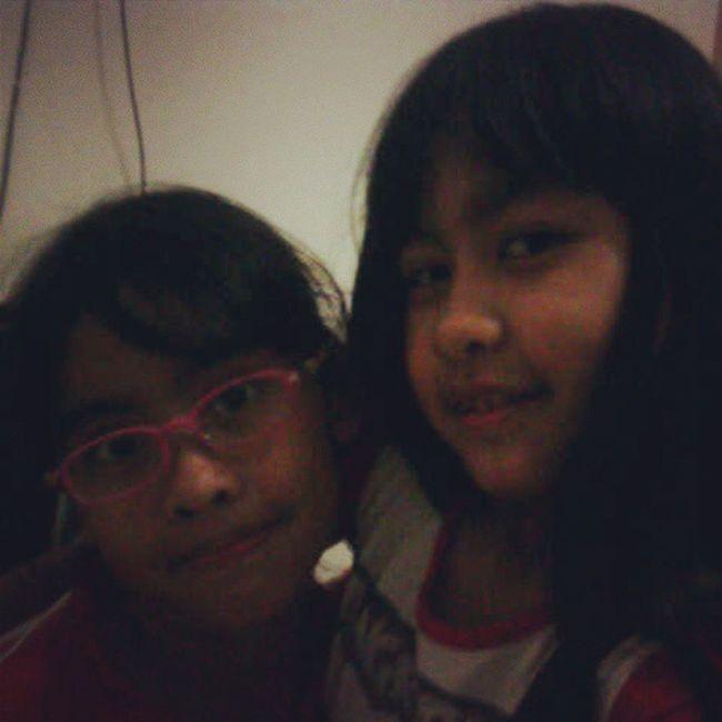miss both of them.. my lit sist sent this beauty pic by bbm haha they grow so fast Mycutesisters Lovelysister Cutegirl