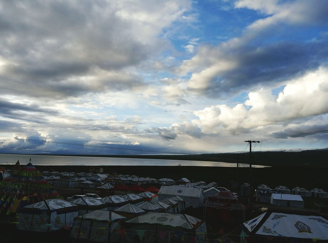 Beautiful Nature Peaceful Relaxing Qinghai Lake Cold Travelling Xining