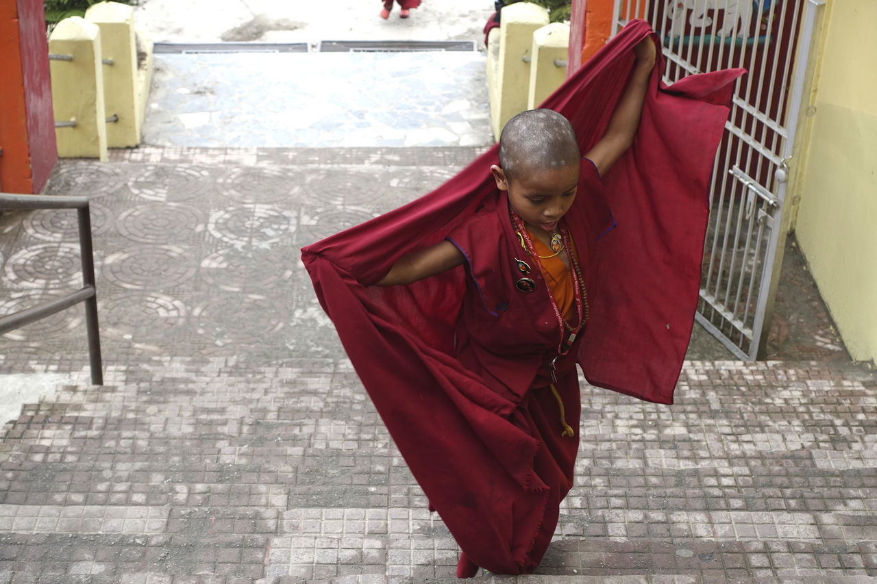 Dancing monk Buddhism Buddhist Temple Child Dancing Monk One Person Real People Sikkim,india Young Adult