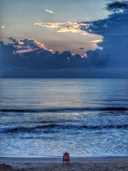 Sea Horizon Over Water Tranquil Scene Beach Nature Seascape Shore Sunrise Sky Cloud - Sky Vacations Outer Banks, NC Landscape Idyllic Water Ocean