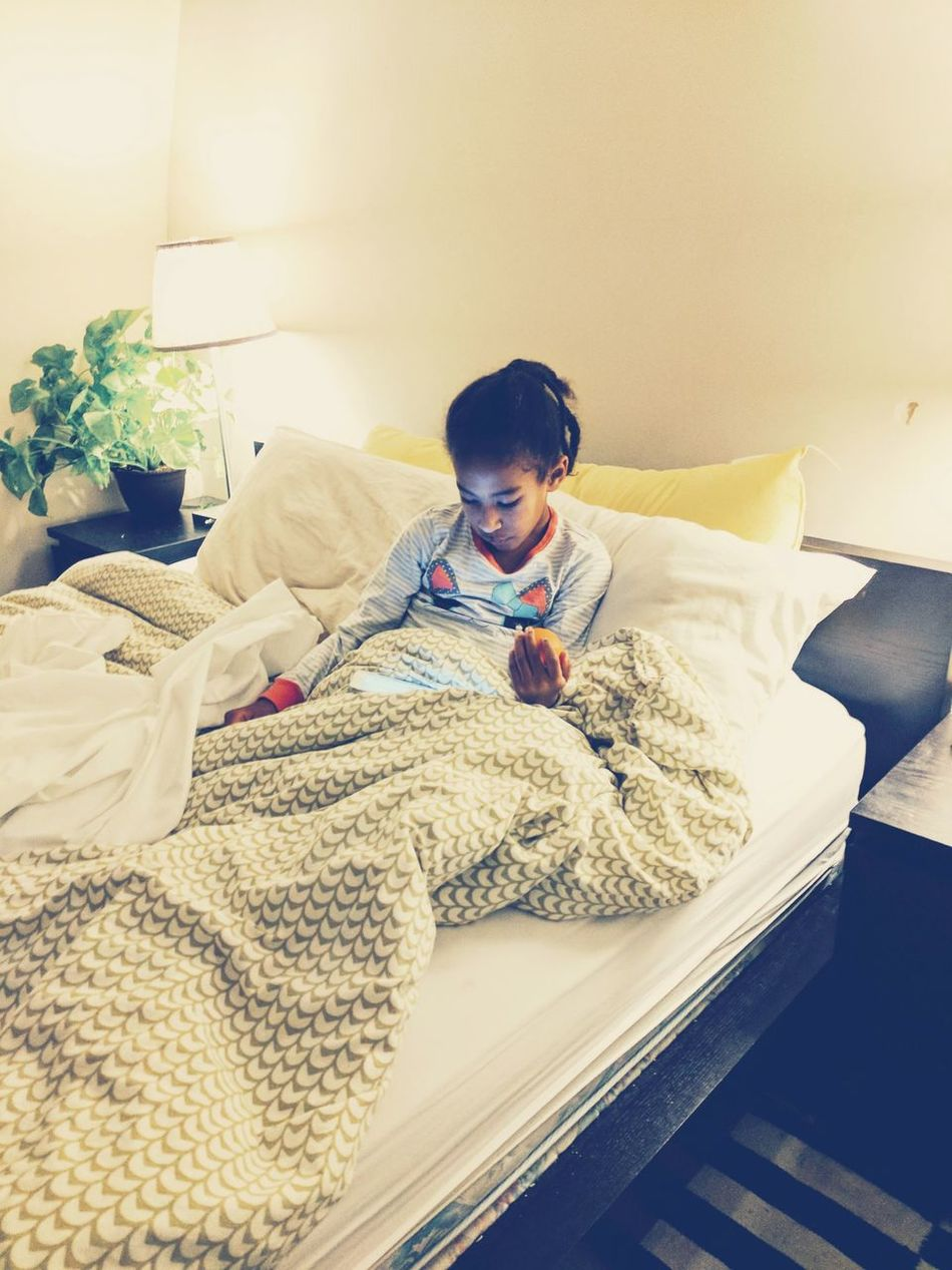 Child Bed Indoors  Home Interior Domestic Life Bedroom Cheerful Happiness Relaxation People One Person Childhood