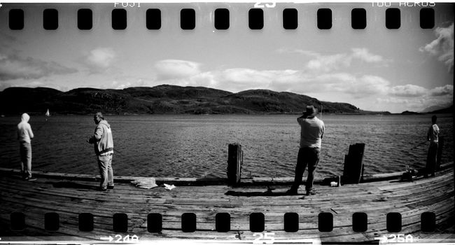 35mm 35mm Film Cloud Cloud - Sky Day Film Photography Fishing Idyllic Jetty Leisure Activity Lifestyles Lomo Lomography Nature Non-urban Scene Outdoors Pier Scenics Sky Sprocket Rocket Panorama Tourism Tranquil Scene Tranquility Water
