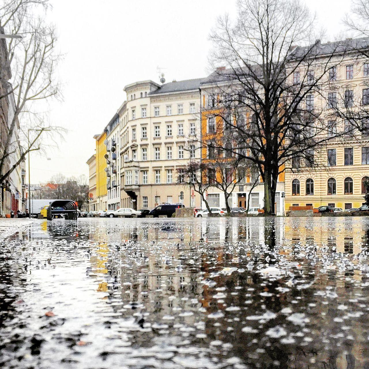 Showcase: February Berlin Berliner Ansichten Berlin Kreuzberg Puddle Reflection