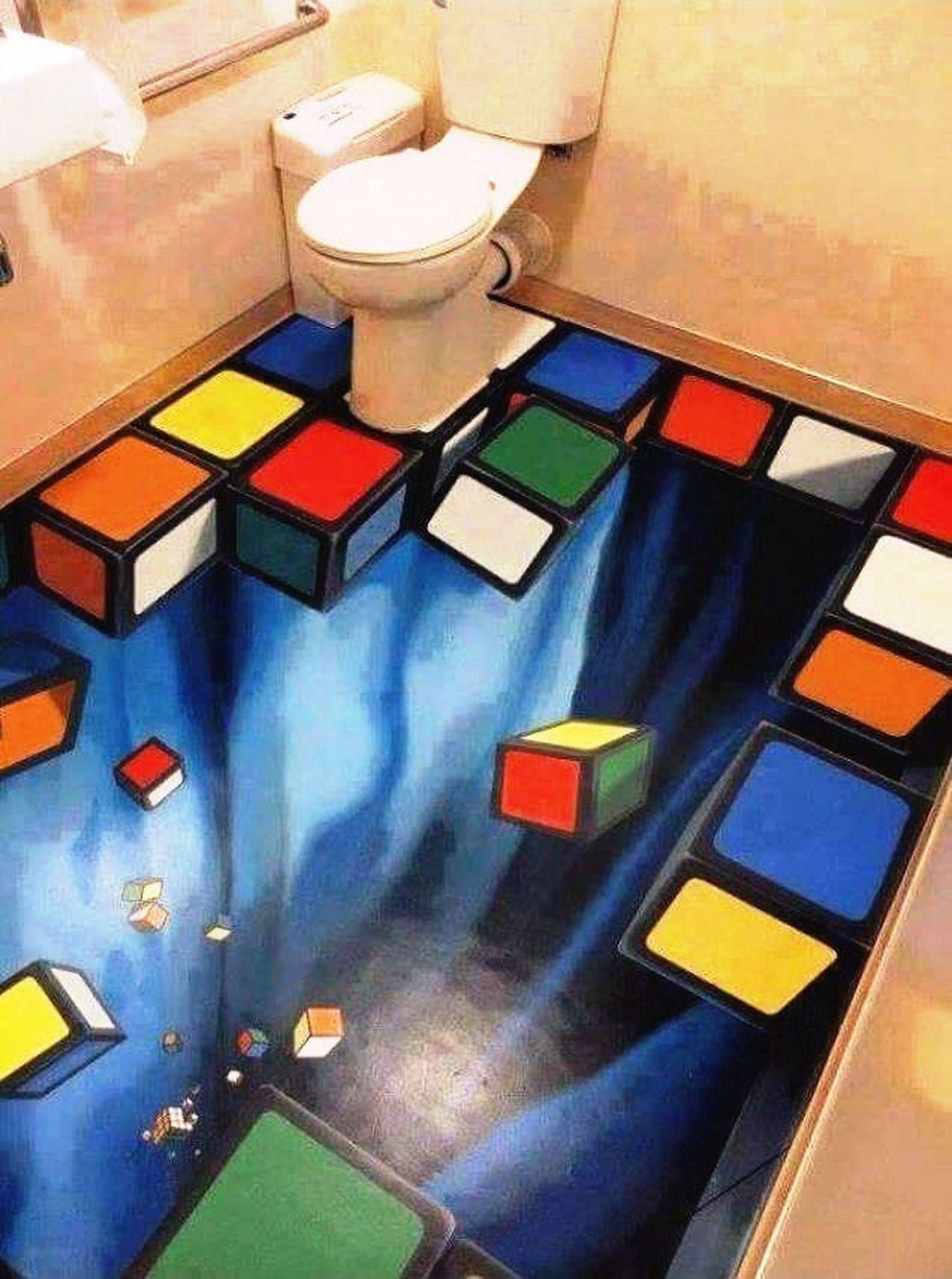 Porcelanato Ilusão De ótica😜 Banheiro Magico Incrivelcomoficouparecido First Eyeem Photo