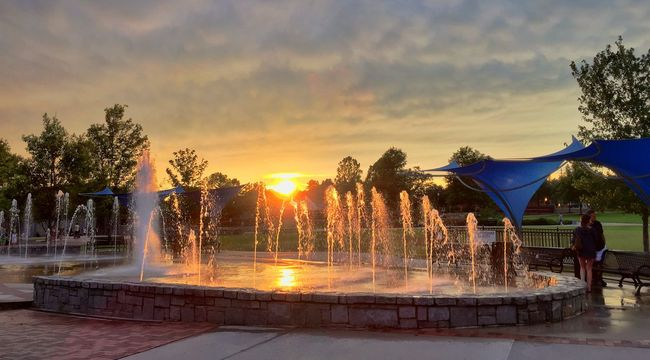 Sunset HDR Swanee Iphone 6 VividHDR Clouds And Sky Fire In The Sky Fountain
