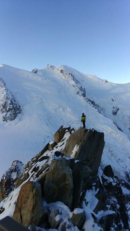 Le Mont Blanc AlpesFrancaises Moutain Top Moutain View Sky Alpinism Alpinist Sunrise Montblanctop Snow EyeEm Best Shots Aiguilledumidi