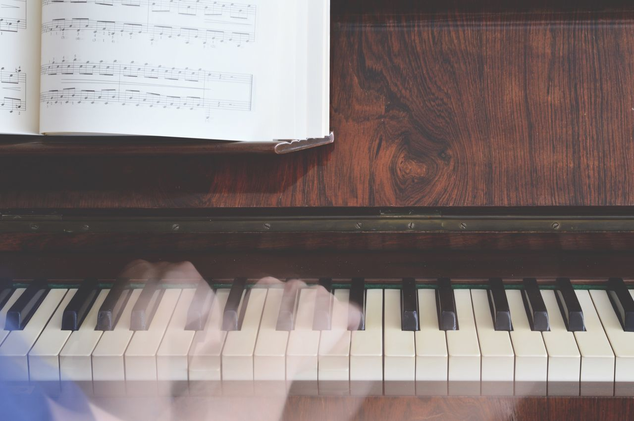 Piano Moments Music Musical Instrument Arts Culture And Entertainment Eye4photography  EyeEm Gallery Keyboard Playing Piano Keynote Motion Blur Capture The Moment Leisure Activity Indoors  Piano Keys Sheet Music Entertainment