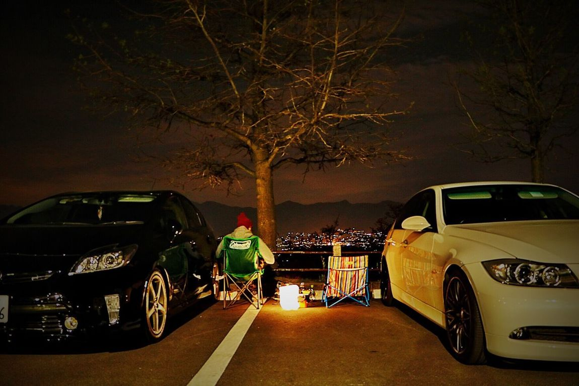 Car Prius 車中泊 夜景 Nightphotography Japan Spring Yamanashi フルーツ公園 日本