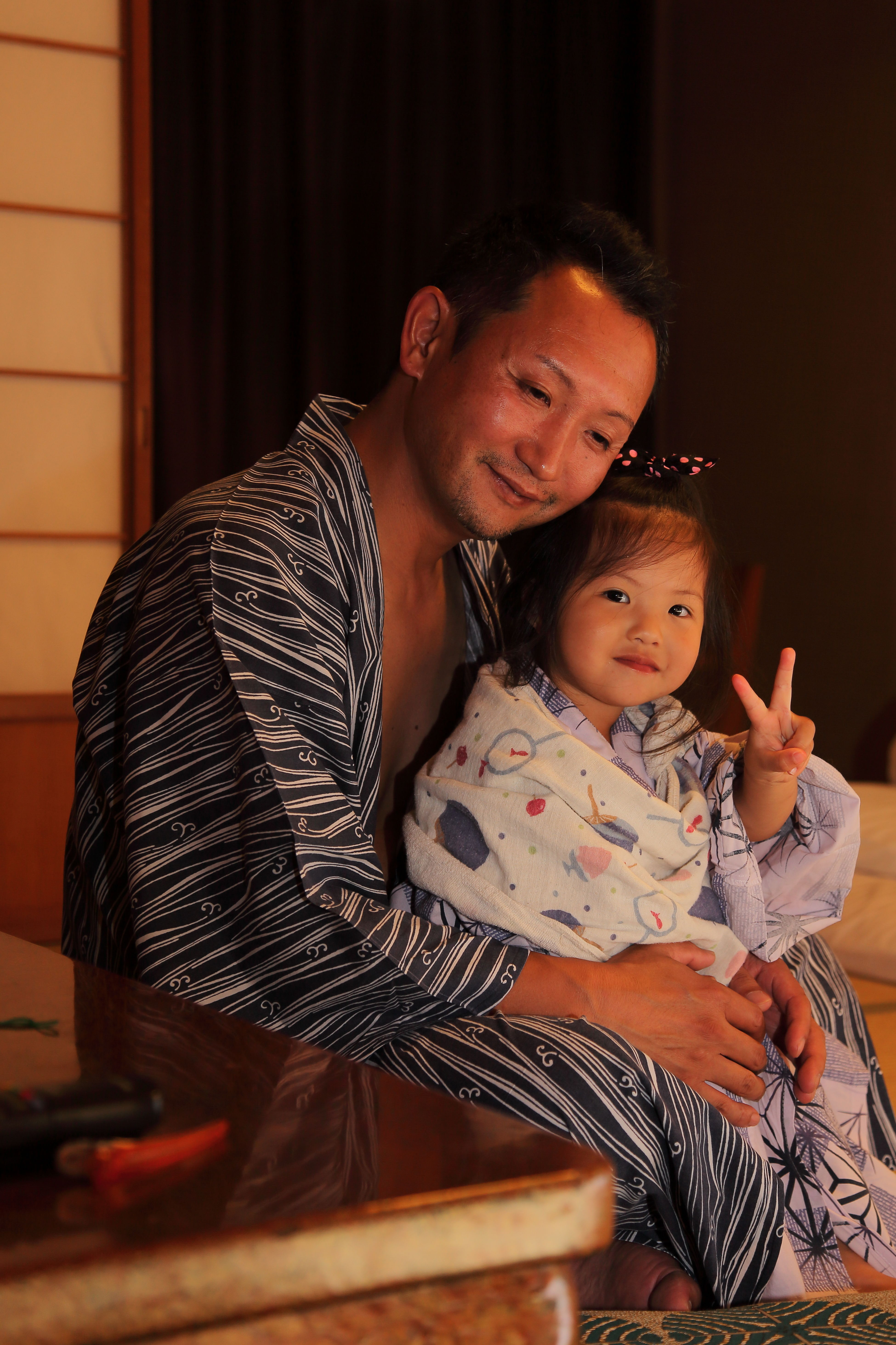 Father&Daughter Father Daughter Love Hot-spring Hotel Hot-spring 福井県 旅 Travel Happy Happy Time 父と娘 旅 幸せな時間 子供 Kids Japanese  女の子 Photography Pic Photo 写真 Girl 日本人 Child