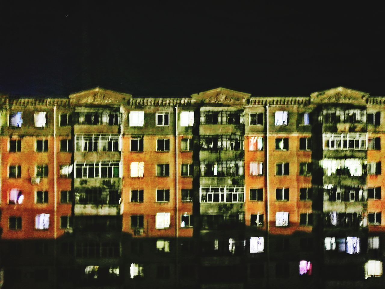 night, architecture, building exterior, no people, built structure, illuminated, window, residential building, outdoors, city, sky, close-up