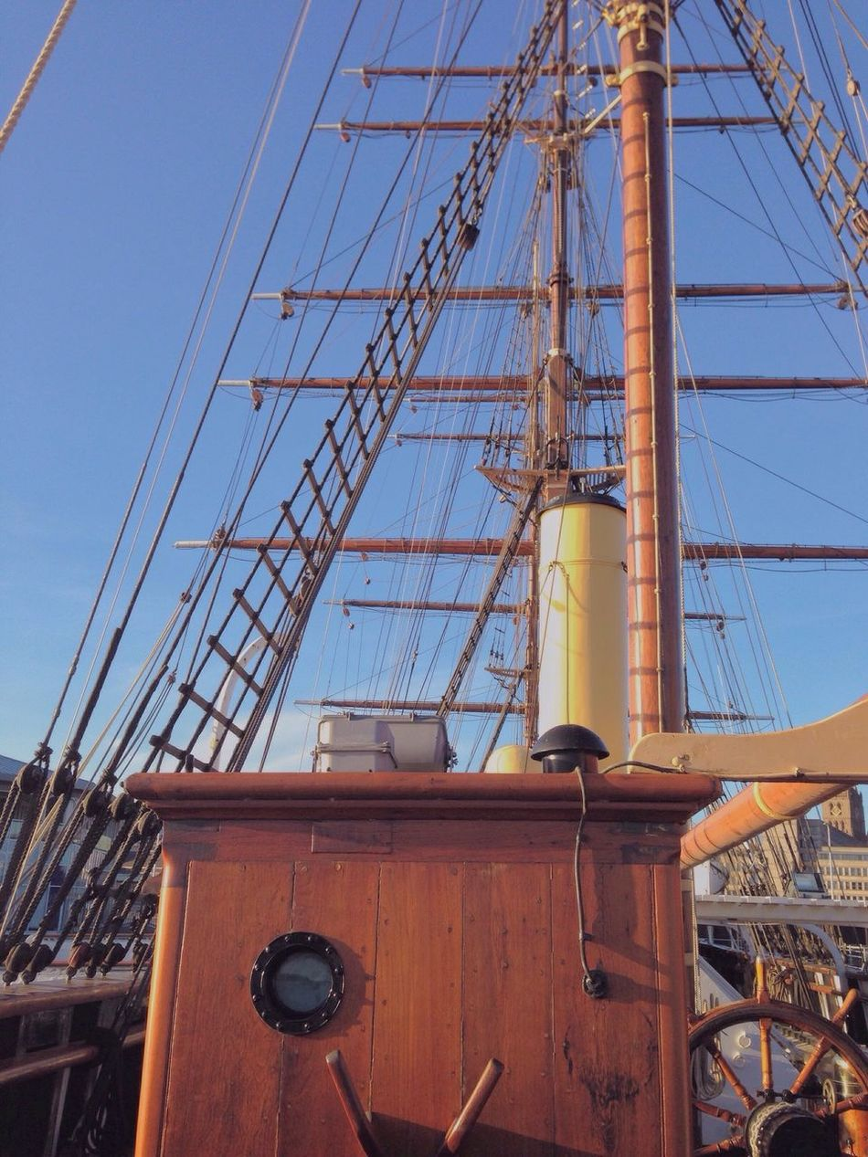on the discovery ship in Dundee, Taking Photos Enjoying Life Check This Out Vscocam Dundee Ship Blue Sky Scotland
