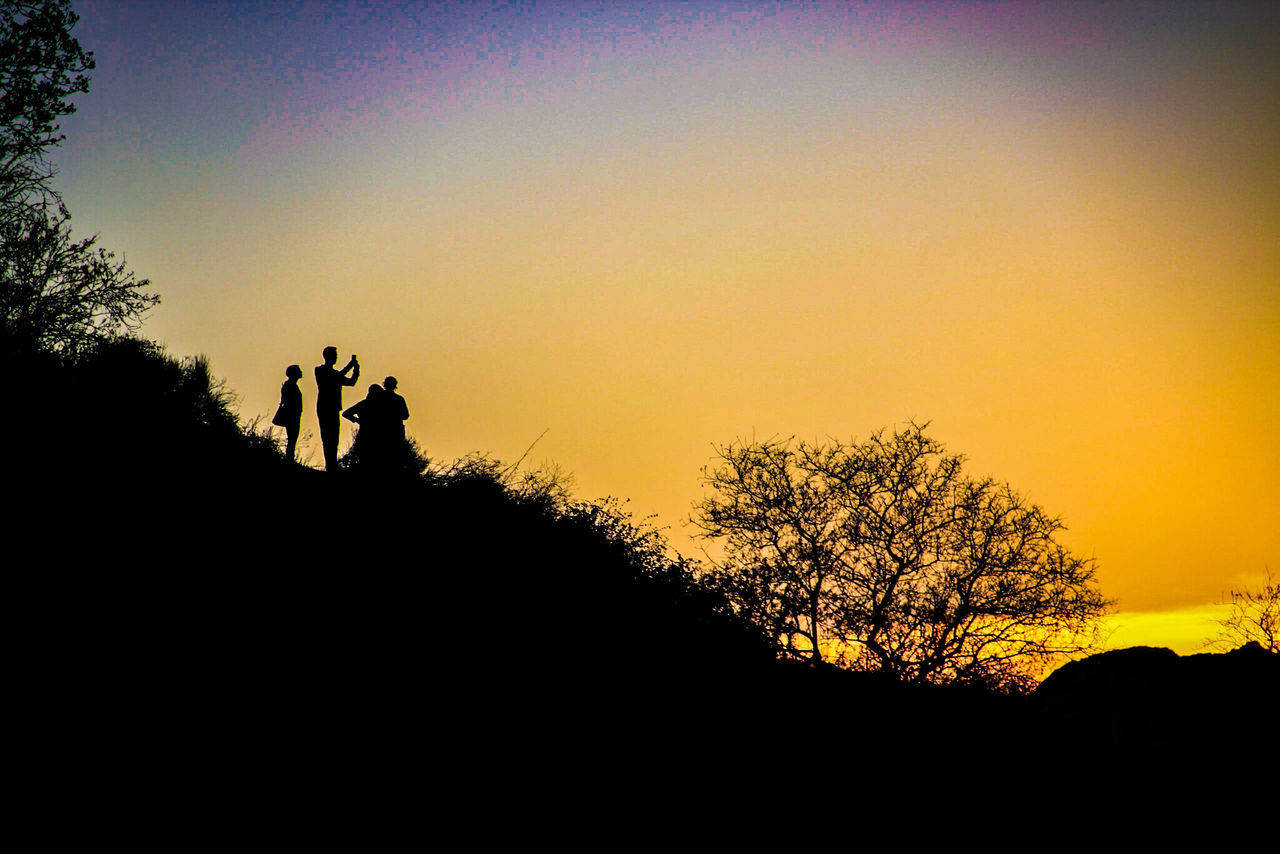 Sunset Silhouette Nature Beauty In Nature Tree Sky Tranquility People Outdoors Day Ronda Spain Ronda, Malaga Landscapes EyeEm Gallery Check This Out Scenics Orange Color Togetherness Enjoy The New Normal Enjoying Nature My Year My View Finding New Frontiers