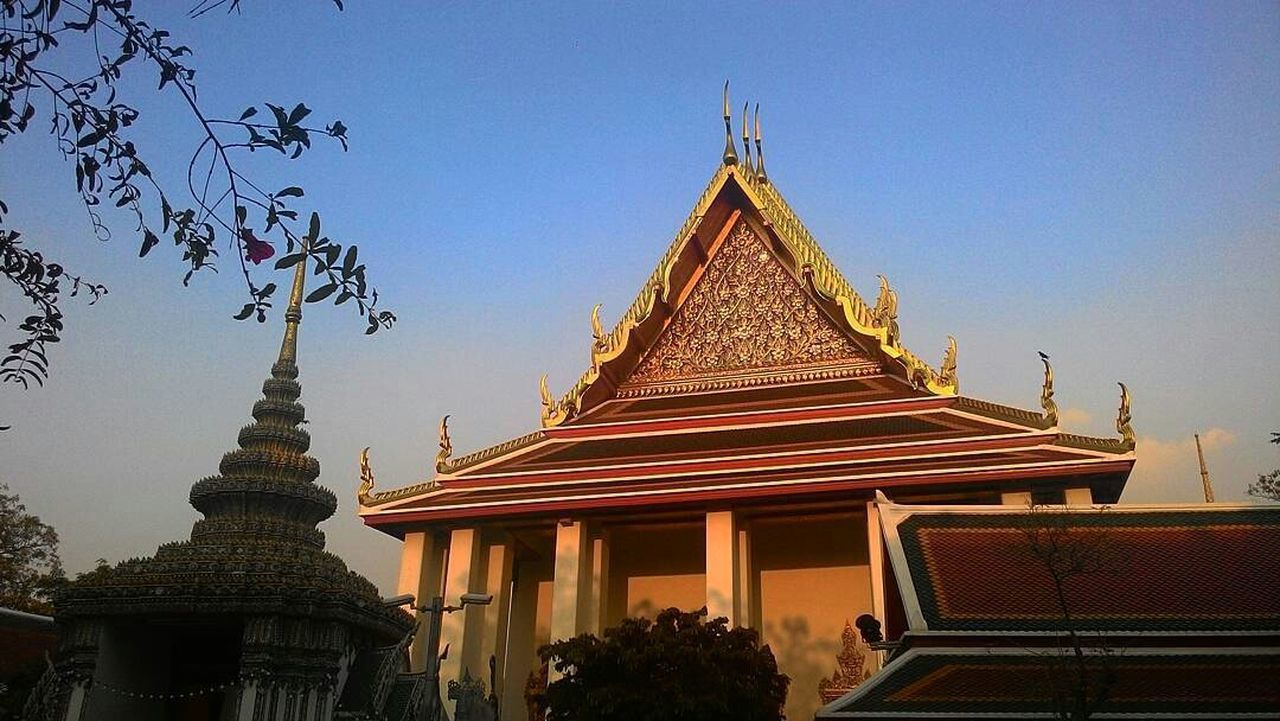 Watpho Watphrachetuphon Temple TempleThailand Bangkok Thailand. Beautiful Bule Sky My Photos EyeEm Thailand Chon😆