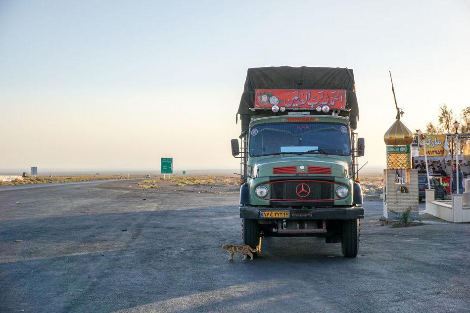 Cat Desert Iran Irantravel Mercedes Mercedes Truck Nature Old Truck Oldtimer Road To Nowhere Transportation Truck