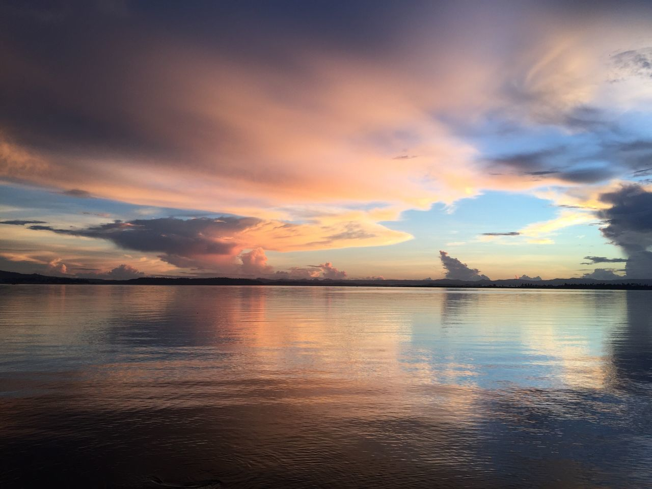 June 24, 2016. No filter sky over Cancabato Bay.