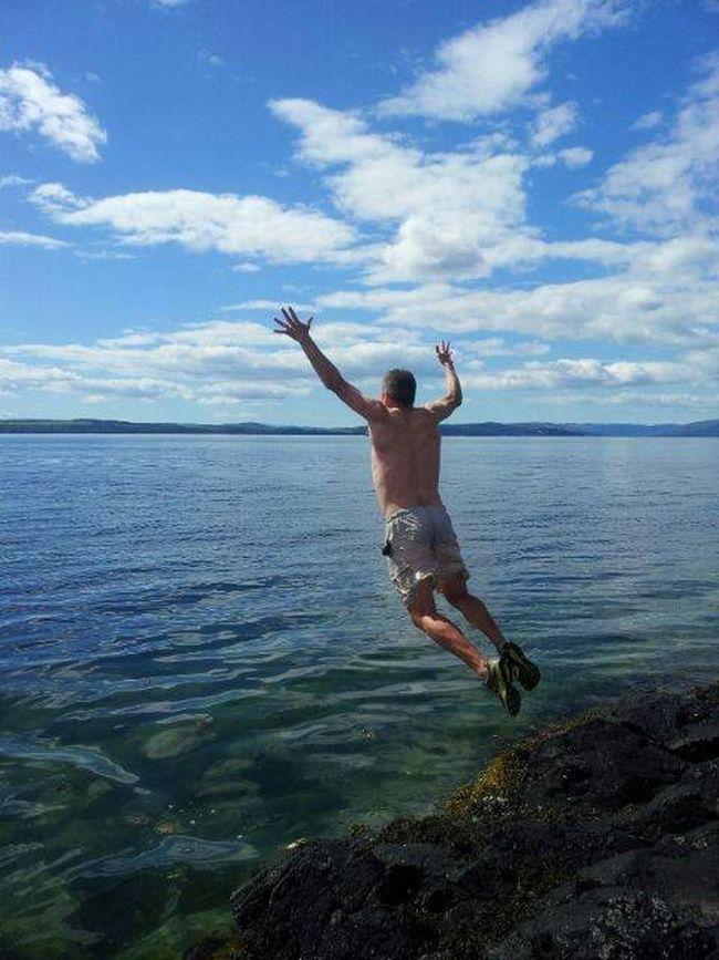 Geronimo! Sea Swimming Clyde Cold Brave Crazy Fun Happy