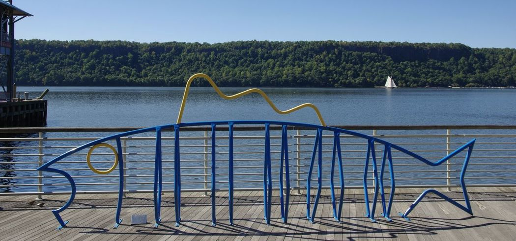 Stick a bike in it! Scenic The Palisades Hudson River Bike Rack Man Made Riverscapes Photography