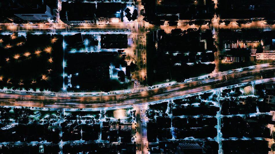 Dji Mavic Pro Drone  Drone Photography Droneshot Sky Nightlight Taipei Street Bird View