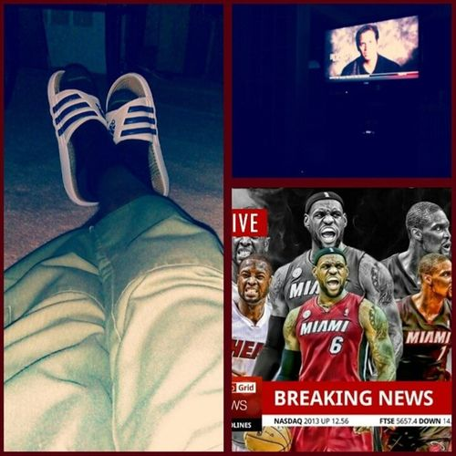 waiting for the game to come on HEATSTANDUP HeatNation Theroadtothefinals 3peat 3heat..???????