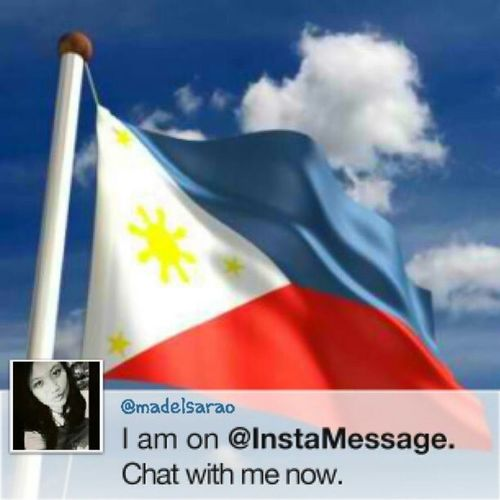 My instamessage is sooo independence day! ;) lets chat! ;) may wechat at twitter din ako : madelsarao . Ya know what to do na guys! Happy independence day again! I'll go later sa kawit, freedom park since walking distance lang naman :) yeah im proud kawiteña! ;) Instamessage Kalayaan2013 Independenceday Kawiteña kawitcavite june12 flag pinay pilipinas