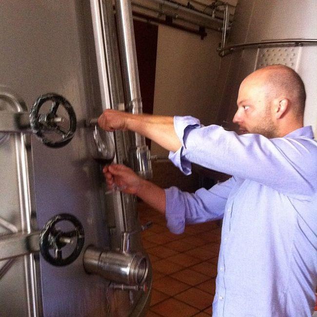 Con Elías López de bodegas Verum, catando los nuevos vinos