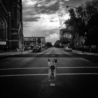 A Bridgeport morning. Southside Chicagostreets Windycity I See Black And White Black And White Blackandwhite Clouds Throughmyeyez Clouds And Sky In The Street