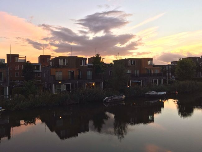 Ijburg Sunset End Of The Day
