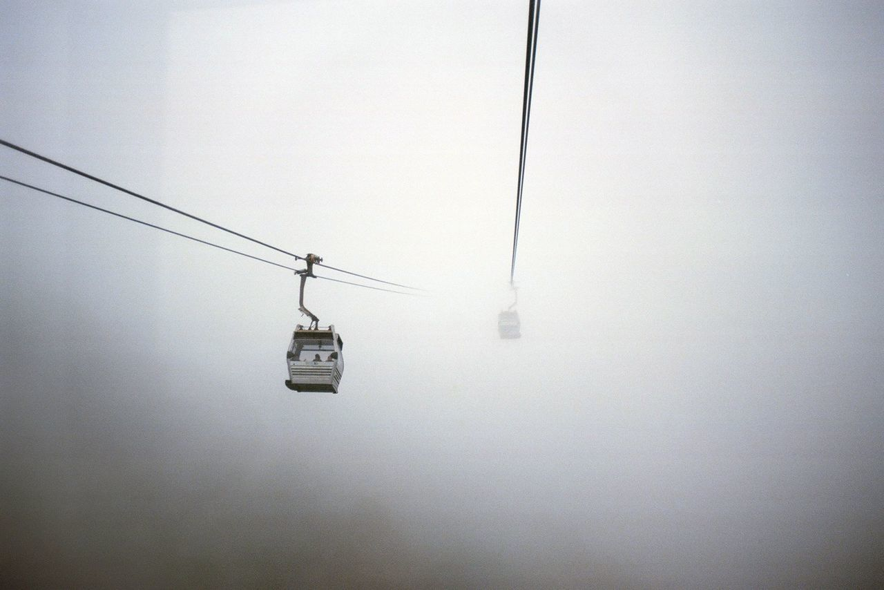 The Great Outdoors - 2017 EyeEm Awards Hanging Cable Nature Transportation Overhead Cable Car No People Electricity  Day Ski Lift Cold Temperature Outdoors Beauty In Nature Sky Travel HongKong Trip ASIA Foggy Morning Foggy Foggy Day Lifestyles Break The Mold in Hong Kong Neighborhood Map
