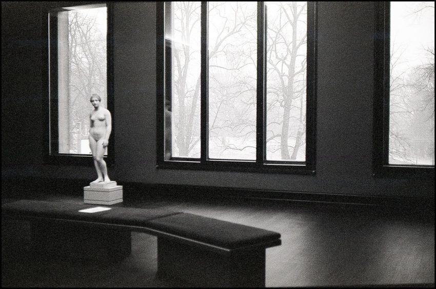 Kunsthalle Bremen 2016 35mm Analogue Photography Architecture Black And White Bremen Classic Camera Curtain Indoors  Interior Style Kunsthalle Museum Window Yashica Electro 35 GT First Eyeem Photo