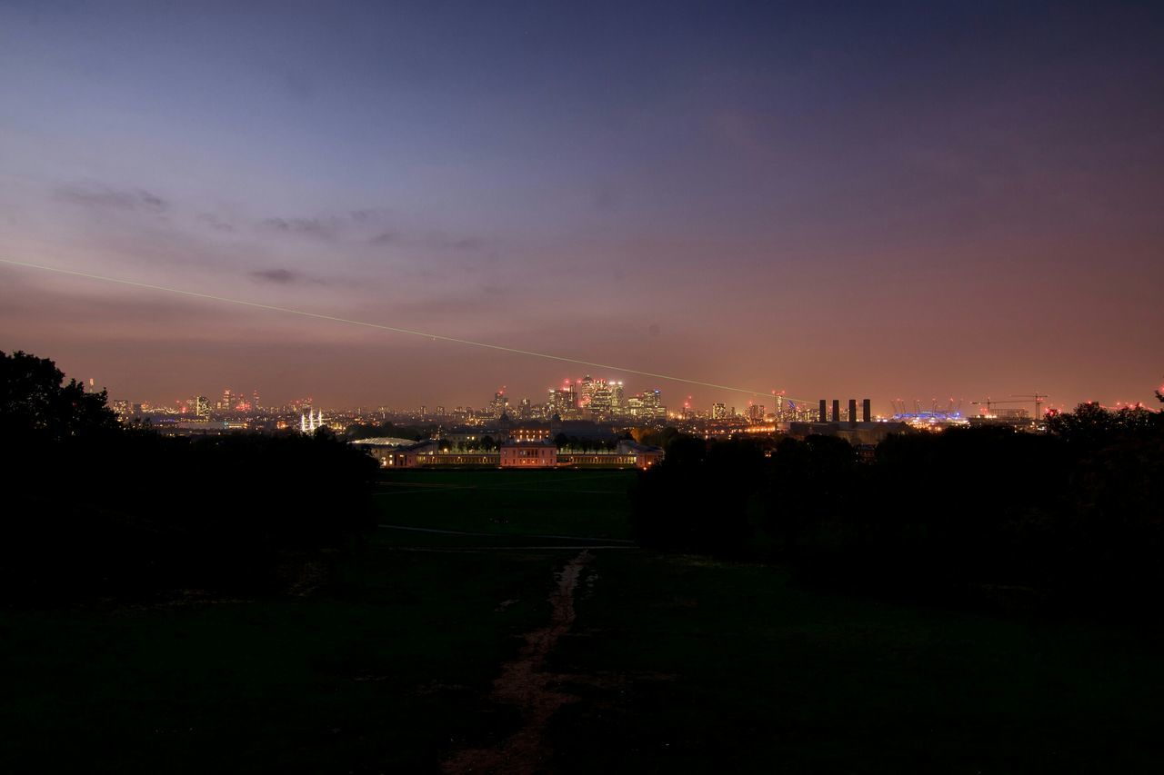 Fall Beauty Autumn Sunset London London Skyline Canary Wharf The O2 The Prime Meridian Line River Thames Tower Bridge  Seeing The Sights Landscapes With WhiteWall
