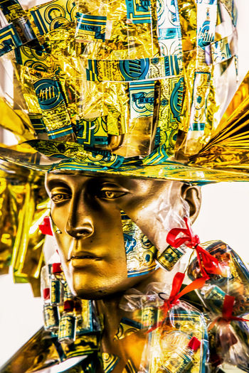 Golden hour Gold Golden Golden Eye Carousel Day Gold Colored Golden Eyeem Golden Hour Head, Human Representation King - Royal Person No People Outdoors Portrait Religion Sculpture Spirituality Statue