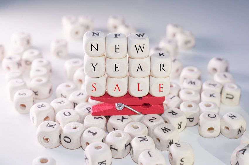 Wooden Alphabets Beads forming words Mega Sale,New Year Sale and Sale. Advertising Alphabet Beads Fun New Year Promotion Sale Shopping Sold Black Friday Close-up Creative Mega Sale Year End Sale