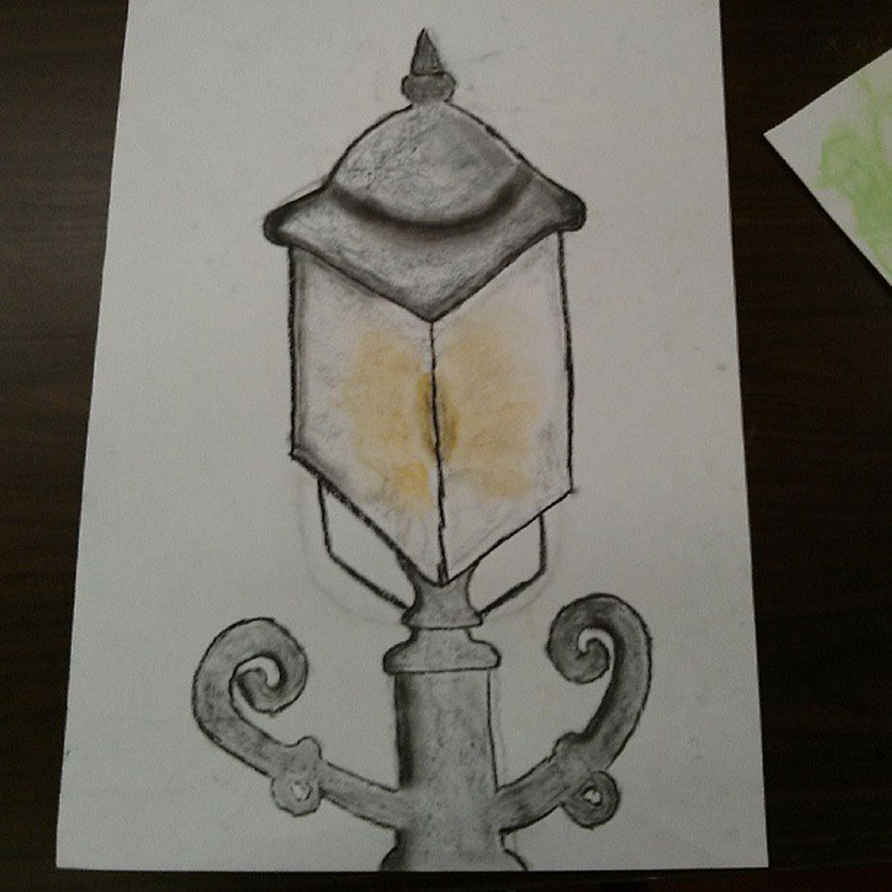 Ridiculously proud of my Victorian street lamp. Art Pastel Badatdrawing
