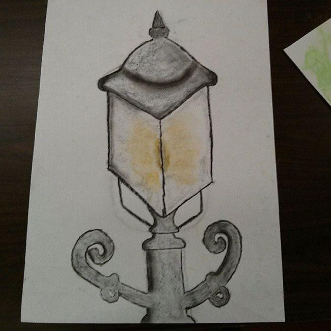 Ridiculously proud of my Victorian street lamp. Art Pastel Badatdrawing