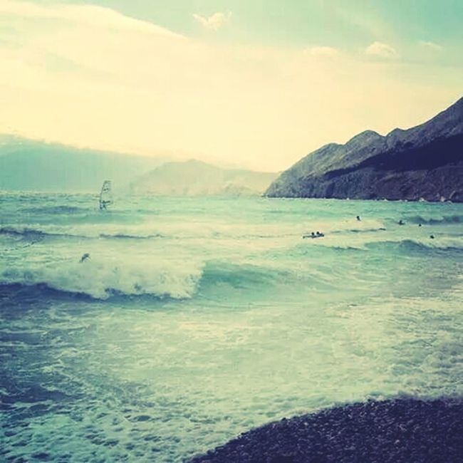 Sea And Sky Fresh Wind Enjoying Life