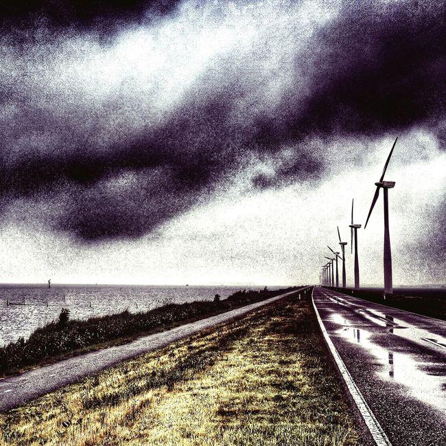Windmills Windmolens Eemmeer Almere Cycling