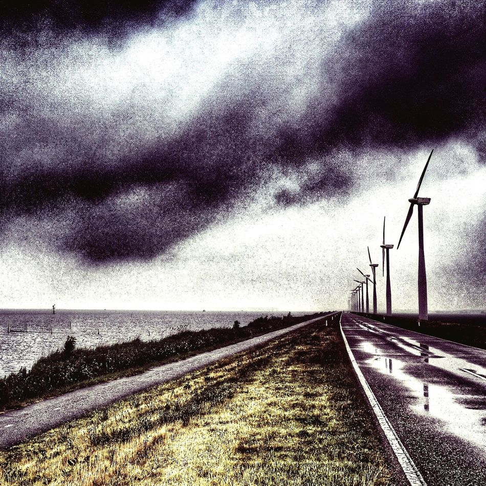 Windmills Windmolens Eemmeer Almere Cycling