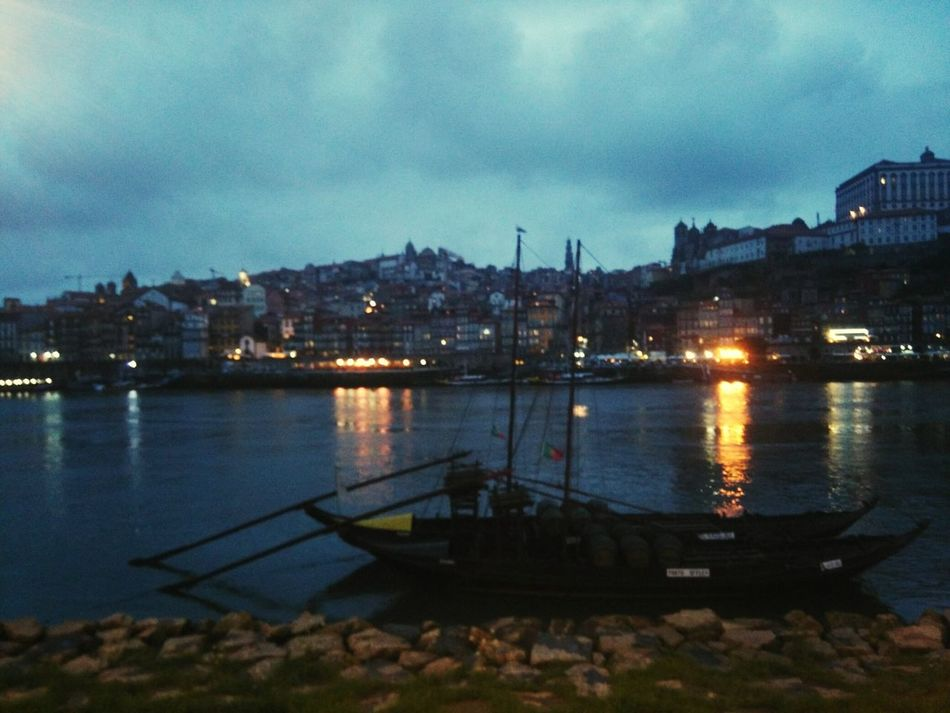 Porto Portugal PortoLovers River Riverside Douro  Douroriver Boat Rabelo Portwine River View Riverscape Night Lights Night View