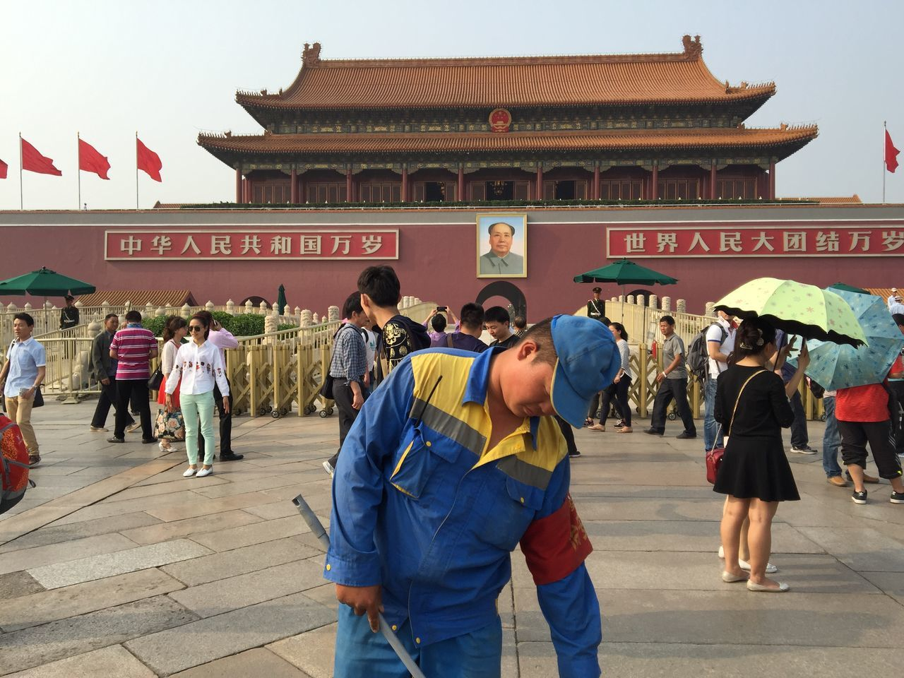 Beijing China Cleaner Composition Culture Forbidden City History Mao Mao Zedong Old Peking  Perspective Portrait Realism Tourists The Week On EyeEm