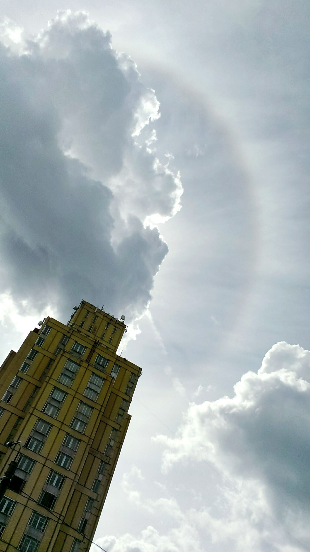 Nimbus Weather Phenomenon Weather Photography Rainbow Halo Eyeem Streetphotography Street Photography Sky Skyscraper Arhitecture Clouds Element Moment Landscape_Collection Air 43 Golden Moments Edit Photo Showcase July