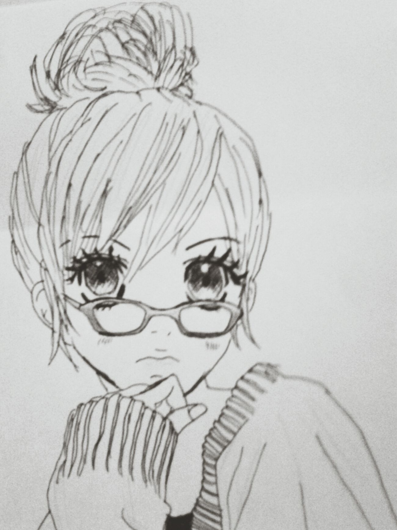 another Drawing i did :) Manga Blackandwhite Art
