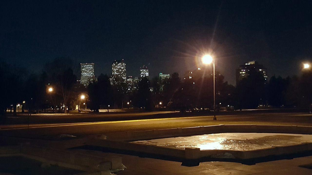 Cheesman Park Night Illuminated No People Outdoors Sky