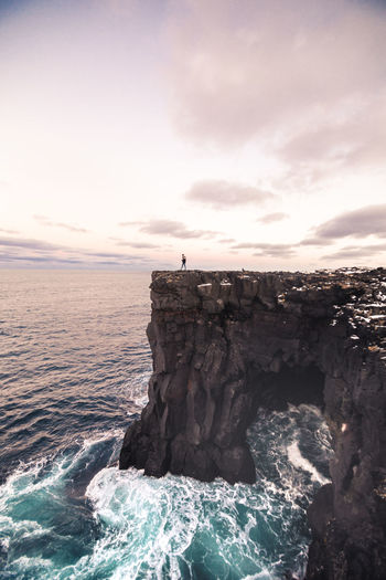 Walking through the cliffs of Snæfellsnes Peninsula Iceland Beauty In Nature Horizon Over Water Nature Outdoors Rock - Object Scenics Sea Sky Sunset Water Wave