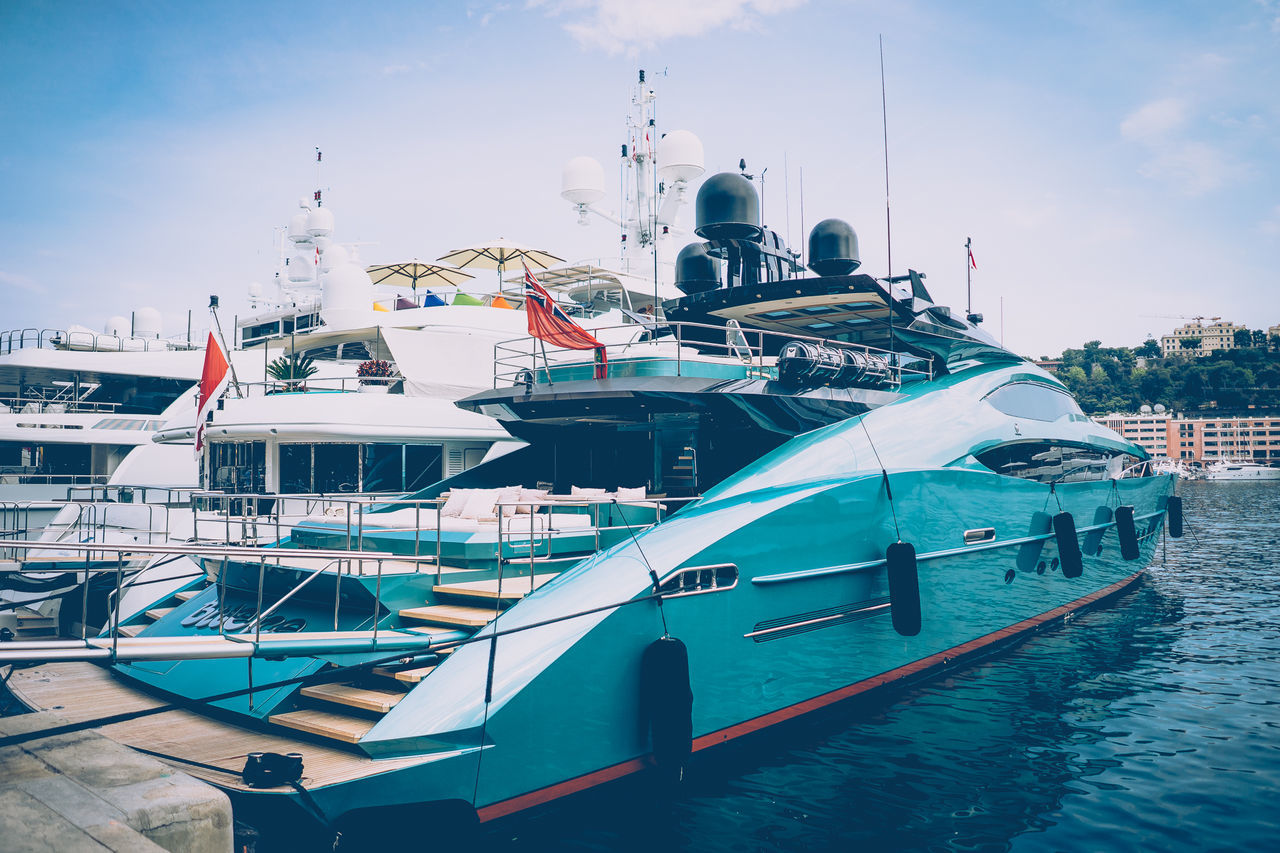 Boat Day Luxury Mode Of Transport Monaco Moored Nautical Vessel No People Outdoors Sky Transportation Water Yacht