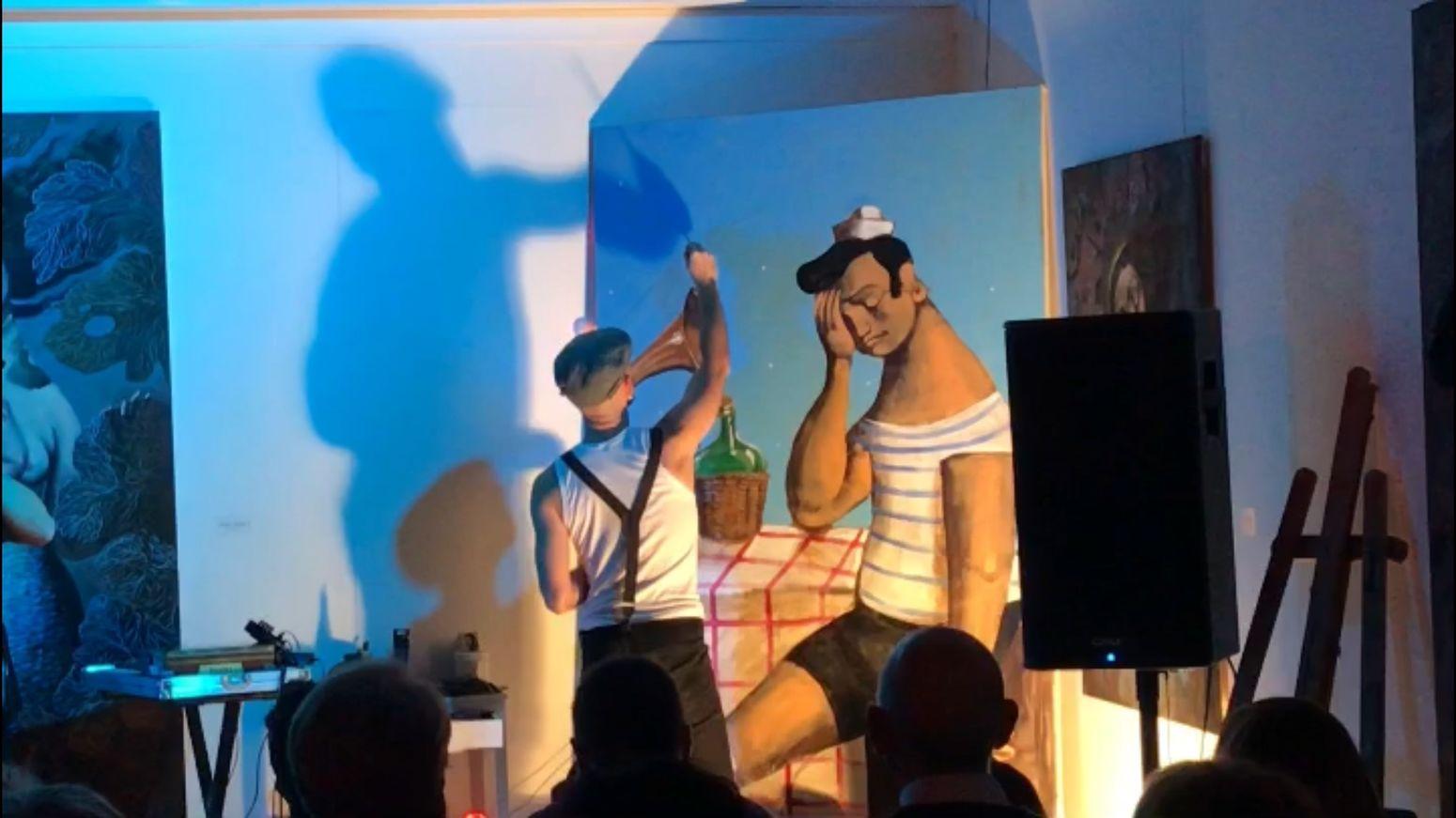 Art Lovers Arte Israel Nicolás 🎨 Hijos De Un Dios Pagano Art Expo Creativity Human Representation Art And Craft Male Likeness Real People Standing Men