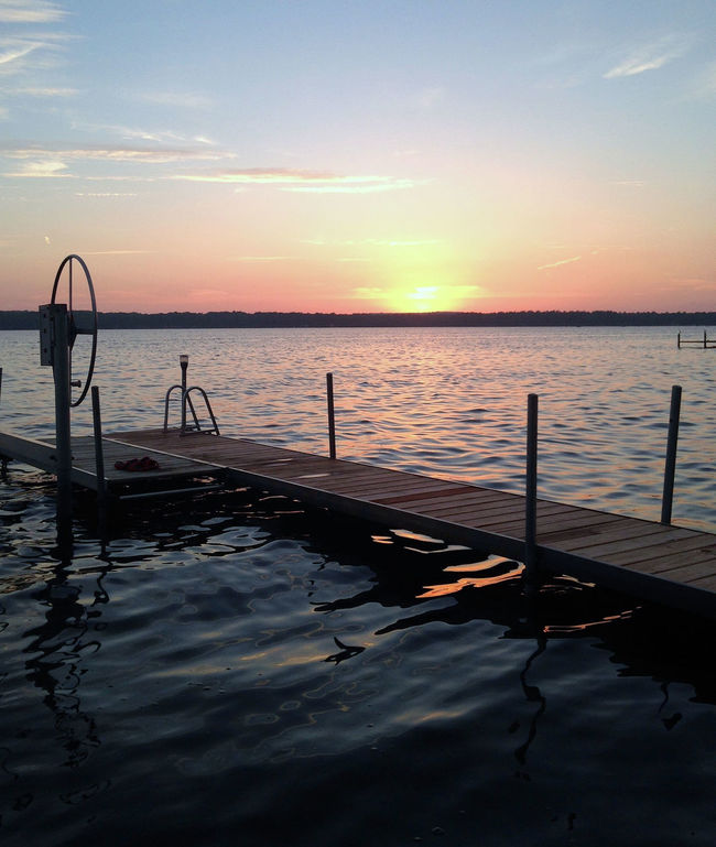 Cloud - Sky Idyllic No People Northern Michigan Northern Michigan Sunset Sunset Sunset On The Lake Tranquil Scene